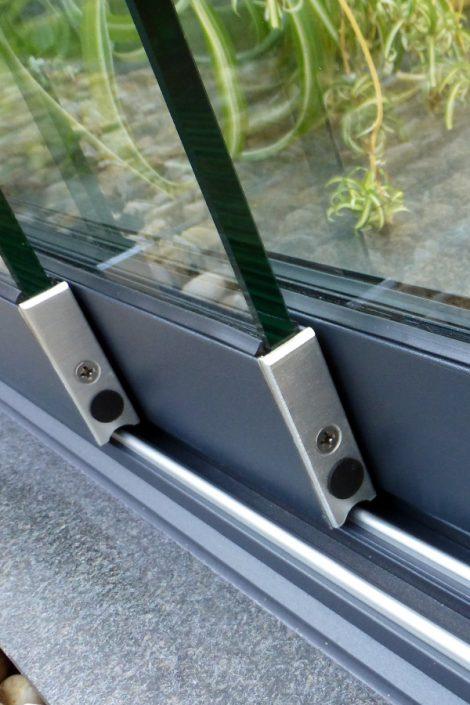 Terrassendach Glastüren