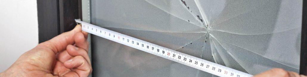 Glasbruch ausmessen
