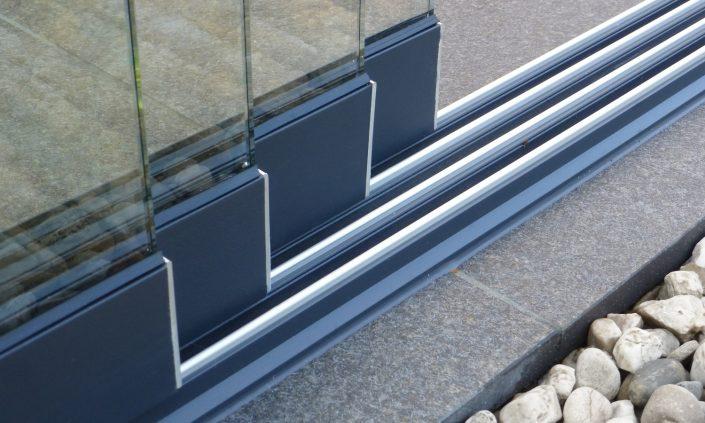 Terrassendach Deponti Schiebetüre