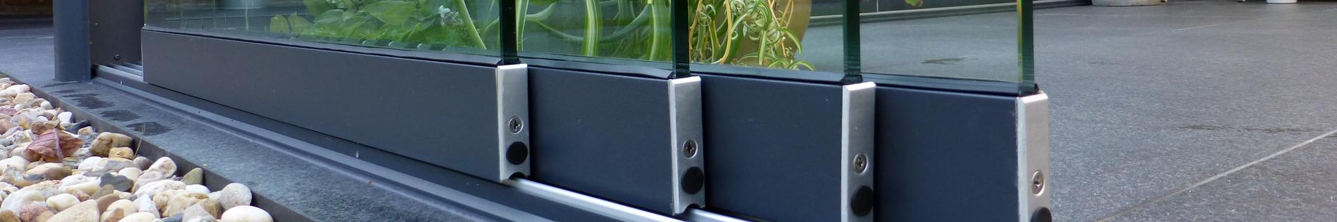 Terrassendach Schiebetüren aus Glas